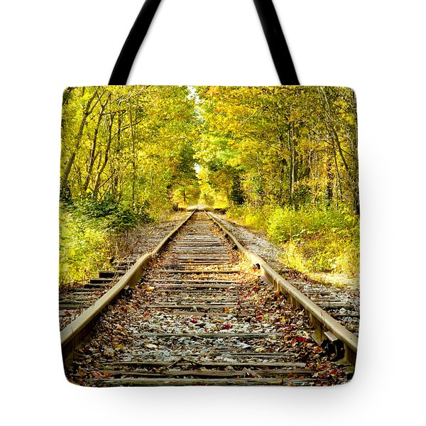 Track To Nowhere Tote Bag by Greg Fortier