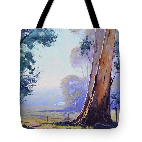 Track To The Farm Tote Bag