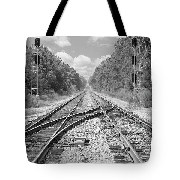 Tote Bag featuring the photograph Tracks 2 by Mike McGlothlen