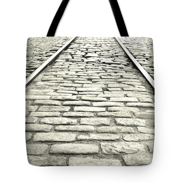 Tracks In The Road Tote Bag