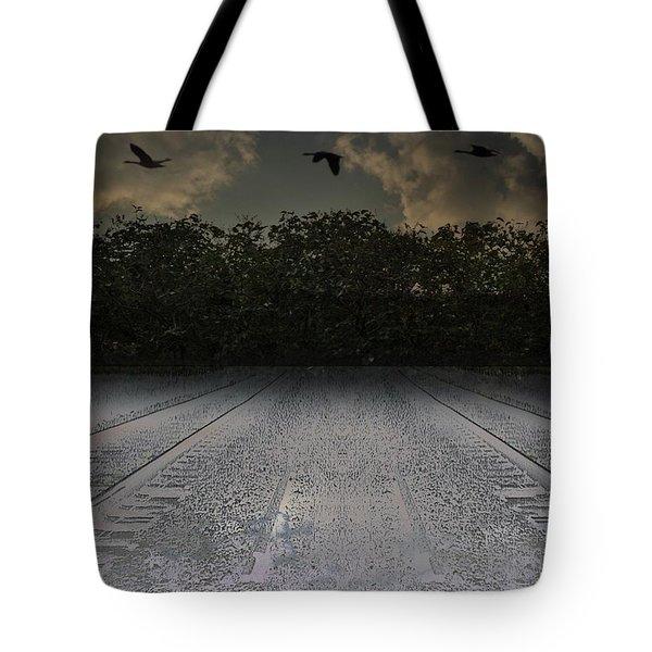 Tracks In The Sky Tote Bag