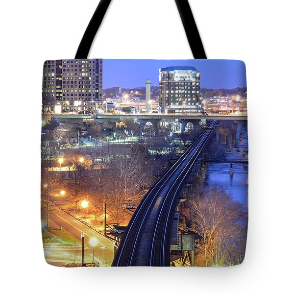 Tracks Into The City Color Tote Bag
