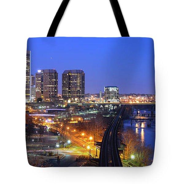Tracks Into The City Wide Angle Tote Bag