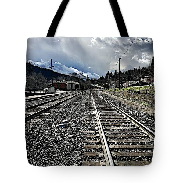 Tote Bag featuring the photograph Tracks by JoAnn Lense
