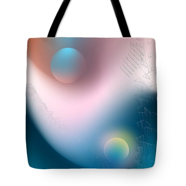Tote Bag featuring the digital art Tracks by Leo Symon