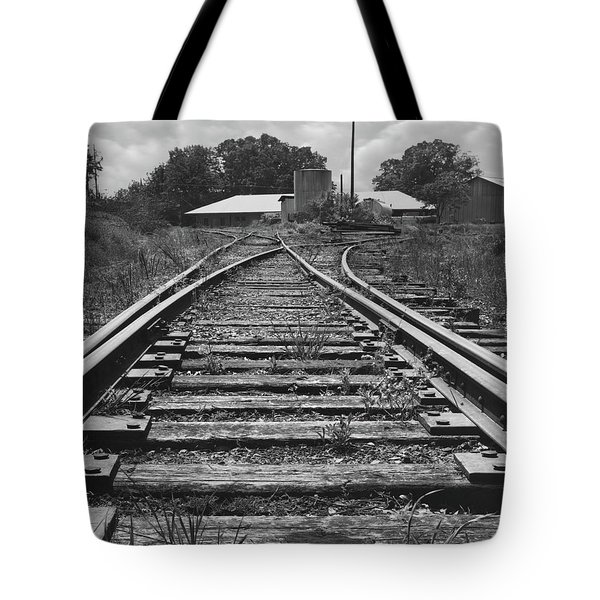 Tote Bag featuring the photograph Tracks by Mike McGlothlen
