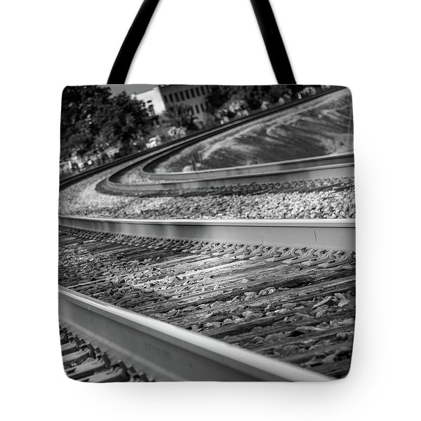 Tote Bag featuring the photograph Tracks Through Historic Buford by Doug Camara