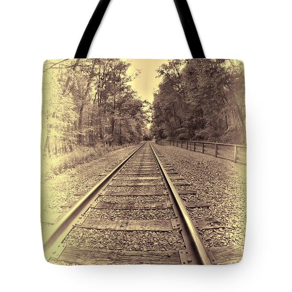Tracks Through The Park Tote Bag