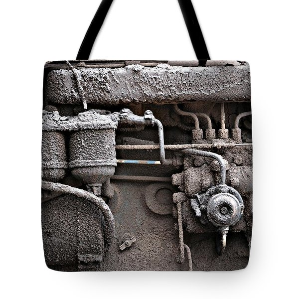Tote Bag featuring the photograph Tractor Engine II by Stephen Mitchell