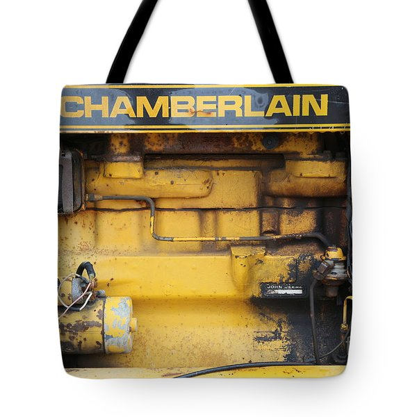 Tote Bag featuring the photograph Tractor Engine Iv by Stephen Mitchell