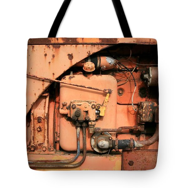 Tote Bag featuring the photograph Tractor Engine V by Stephen Mitchell