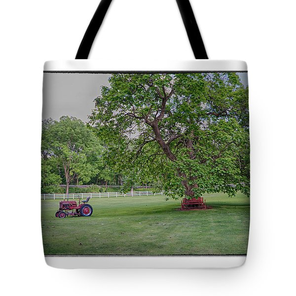Tote Bag featuring the photograph Tractor by R Thomas Berner