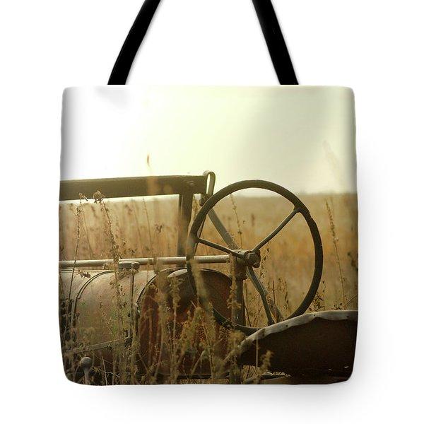 Tractor Sunrise Tote Bag