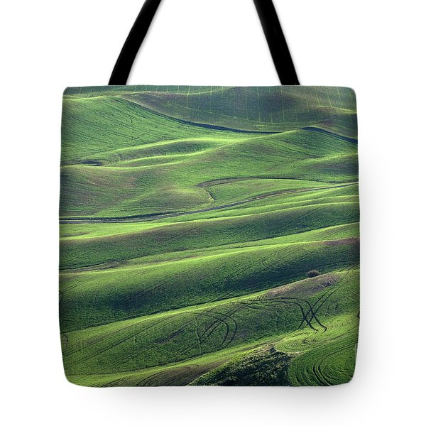 Tractor Tracks Agriculture Art By Kaylyn Franks Tote Bag