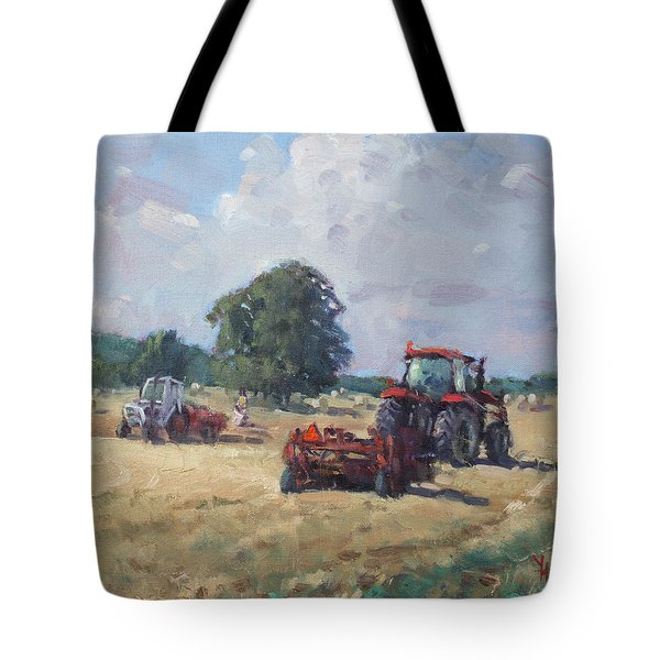 Tractors In The Farm Georgetown Tote Bag