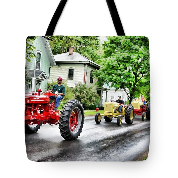 Tractors On Parade Tote Bag