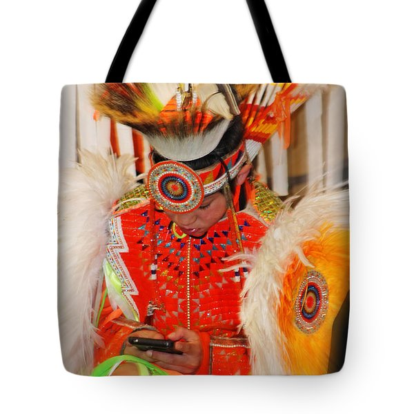 Tradition Meets Technology Tote Bag by Audrey Robillard