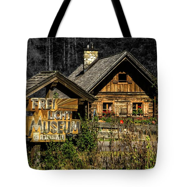 Traditional Austrian Wooden House Tote Bag