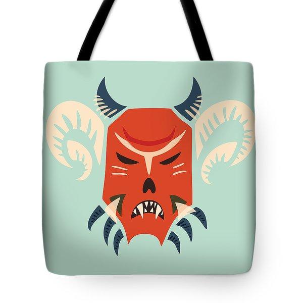 Traditional Bulgarian Evil Monster Kuker Mask Tote Bag