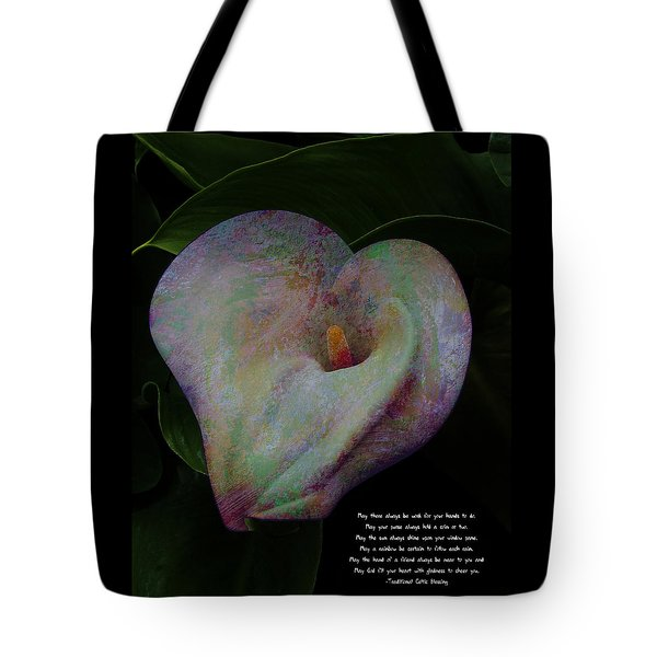 Traditional Celtic Blessing Tote Bag