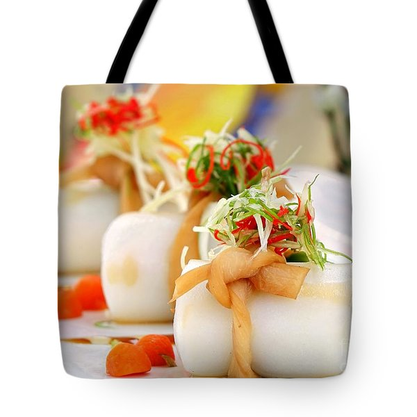 Traditional Chinese Hakka Rice Noodle Roll Tote Bag