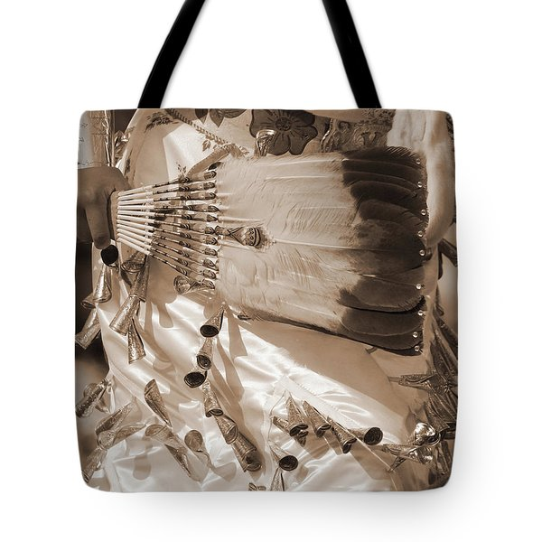 Tote Bag featuring the photograph Traditional Dancer In Sepia by Heidi Hermes