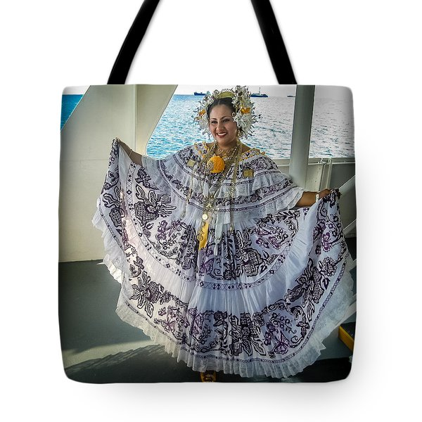 Traditional Dress, Lots Of Real Gold Tote Bag