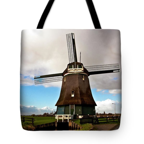 Tote Bag featuring the photograph Traditional Dutch Windmill Near Volendam  by Silva Wischeropp