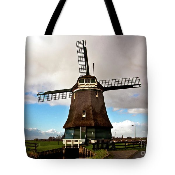 Traditional Dutch Windmill Near Volendam  Tote Bag