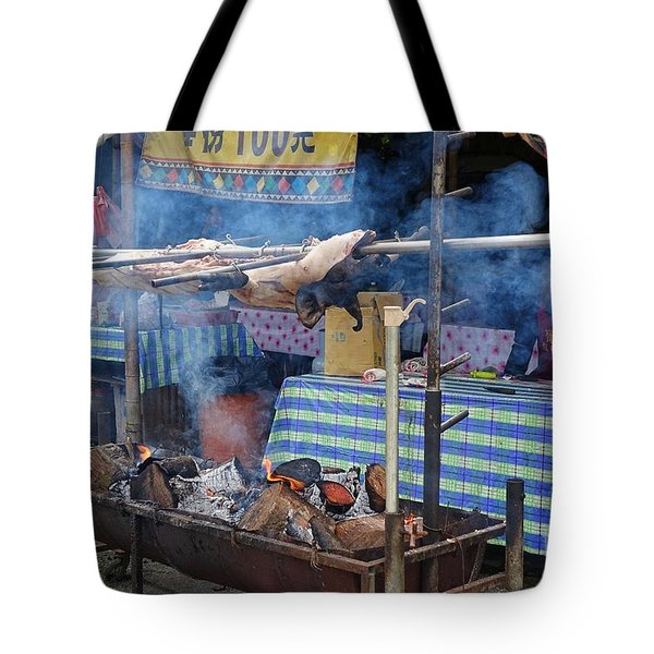 Traditional Market In Taiwan Native Village Tote Bag by Yali Shi