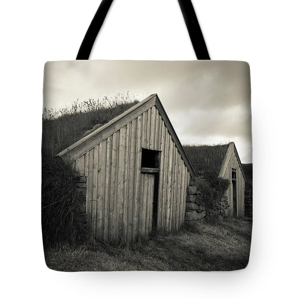 Tote Bag featuring the photograph Traditional Turf Or Sod Barns Iceland by Edward Fielding