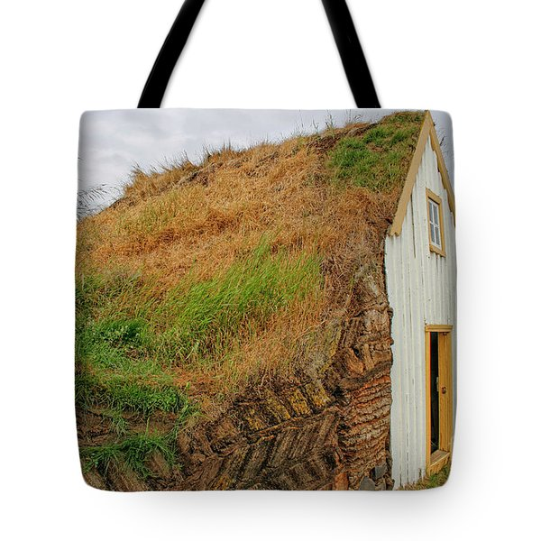 Traditional Turf Houses In Iceland Tote Bag
