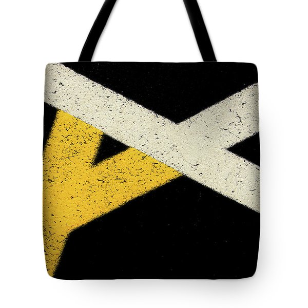 Tote Bag featuring the photograph Traffic Line Conversion 2 by Gary Slawsky