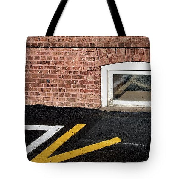 Tote Bag featuring the photograph Traffic Line Conversion In Window by Gary Slawsky