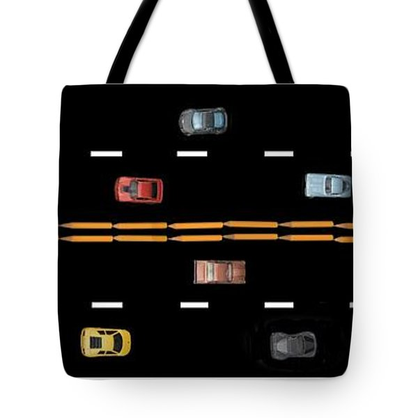 Tote Bag featuring the photograph Traffic - Panorama by Nikolyn McDonald