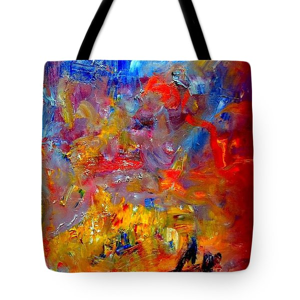 Tote Bag featuring the painting Tragedy  At  Sea -  Sydney To Hobart by VIVA Anderson