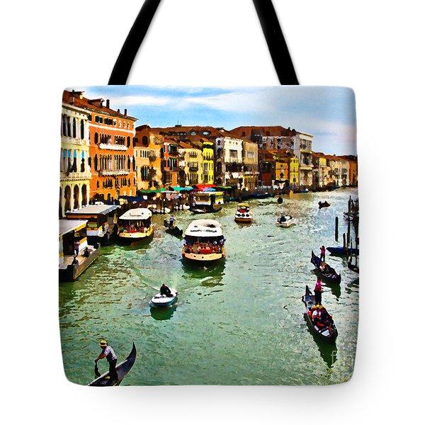 Traghetto, Vaporetto, Gondola  Tote Bag by Tom Cameron