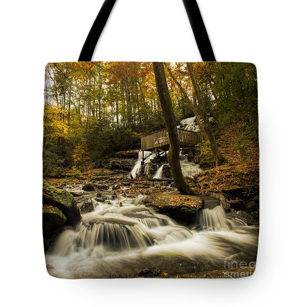 Tote Bag featuring the photograph Trahlyta Falls by Barbara Bowen