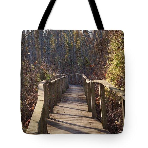 Trail Bridge Tote Bag