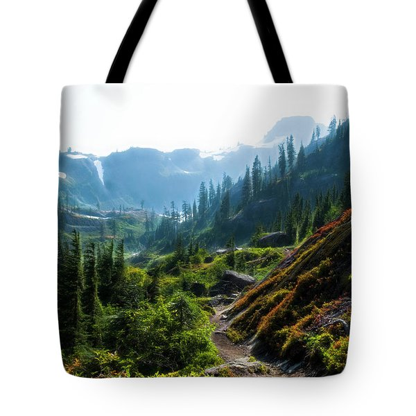 Trail In Mountains Tote Bag