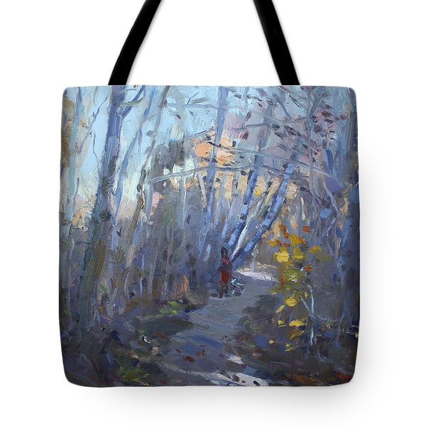 Trail In Silver Creek Valley Tote Bag