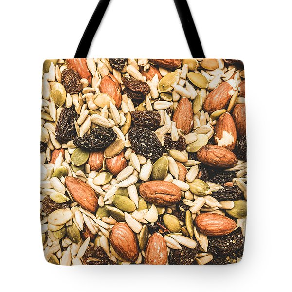 Tote Bag featuring the photograph Trail Mix Background by Jorgo Photography - Wall Art Gallery
