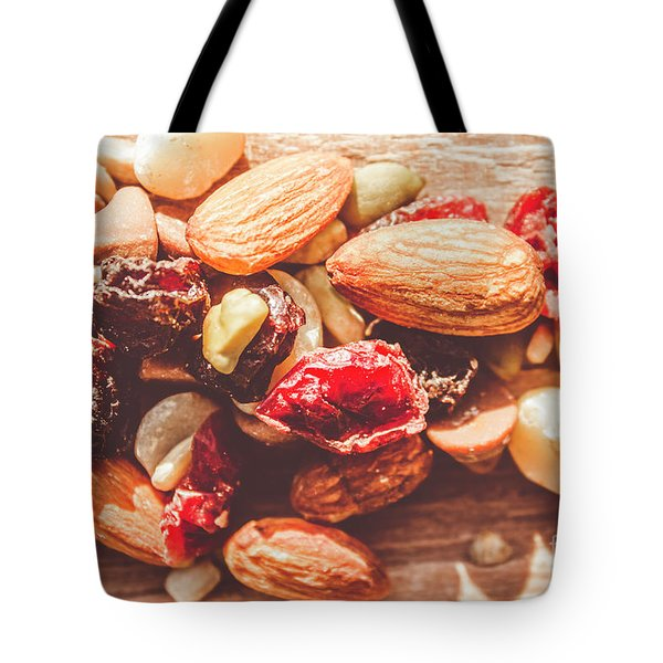 Trail Mix High-energy Snack Food Background Tote Bag