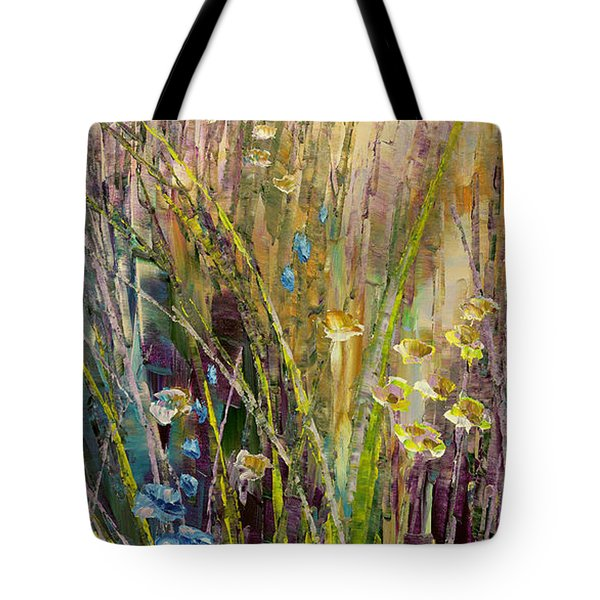Tote Bag featuring the painting Trail Of Beauty by Tatiana Iliina