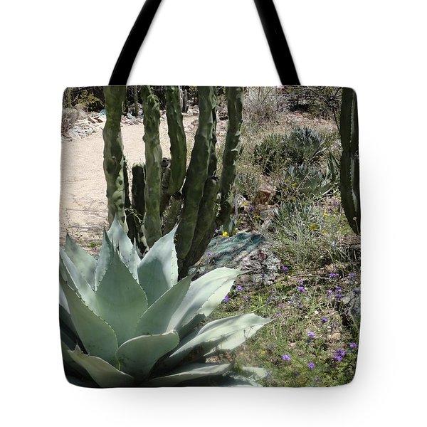 Trail Of Cactus Tote Bag