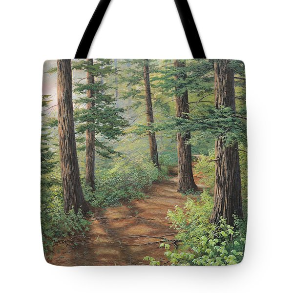 Trail Of Green Tote Bag
