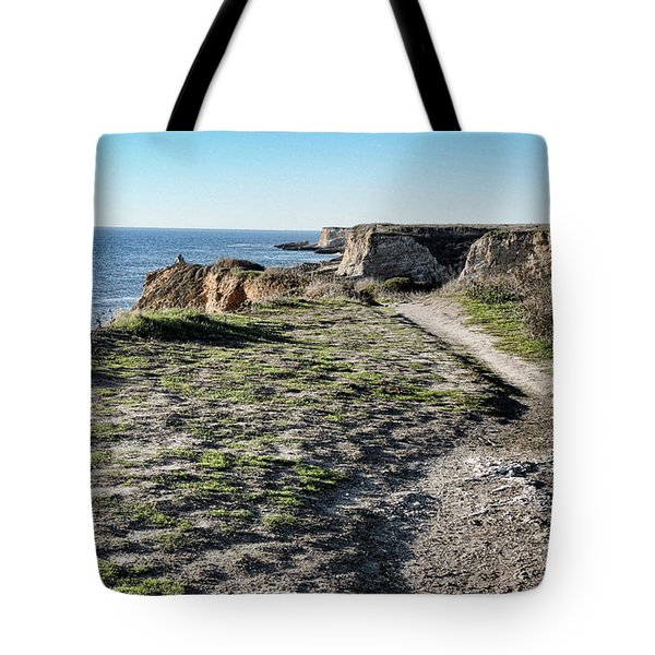 Trail On The Cliffs Tote Bag