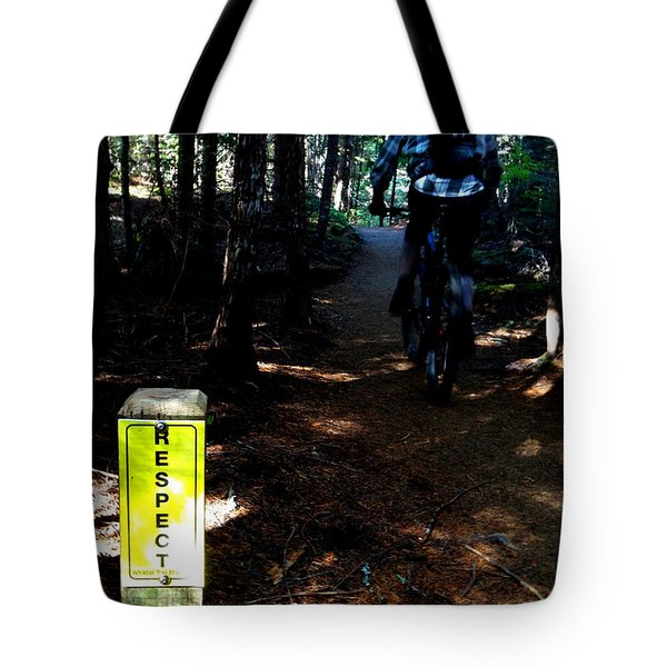 Trail Respect Tote Bag