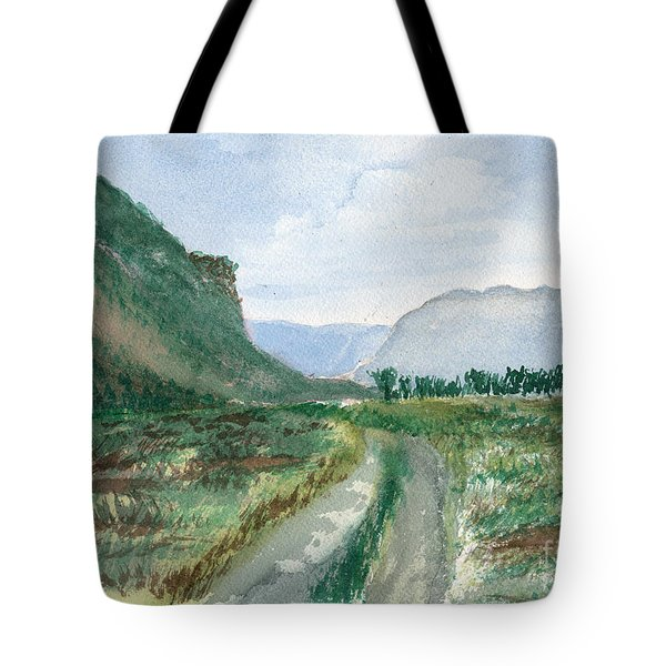 Trail To Canada Tote Bag
