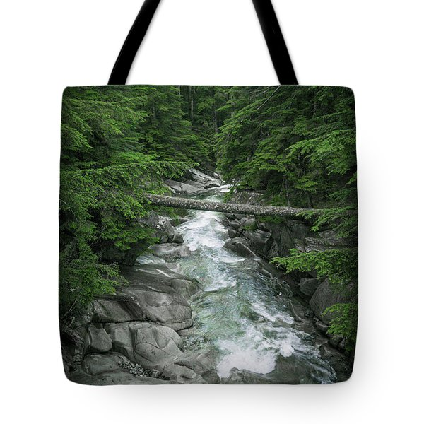 Trail To The Falls Tote Bag by Crystal Hoeveler